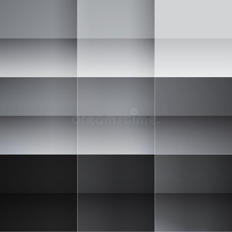 Γκρίζο και μαύρο αφηρημένο υπόβαθρο τετραγώνων ελεύθερη απεικόνιση δικαιώματος