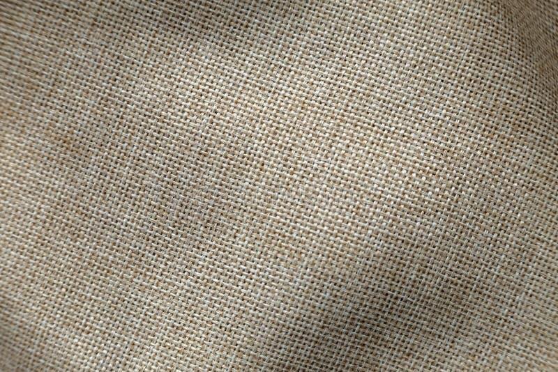 Γκρίζο μπεζ υπόβαθρο επιφάνειας καμβά λινού Sackcloth σχέδιο, οικολογικό υφαντικό, μοντέρνο υφαμένο ευκίνητο burlap βαμβακιού στοκ εικόνες με δικαίωμα ελεύθερης χρήσης