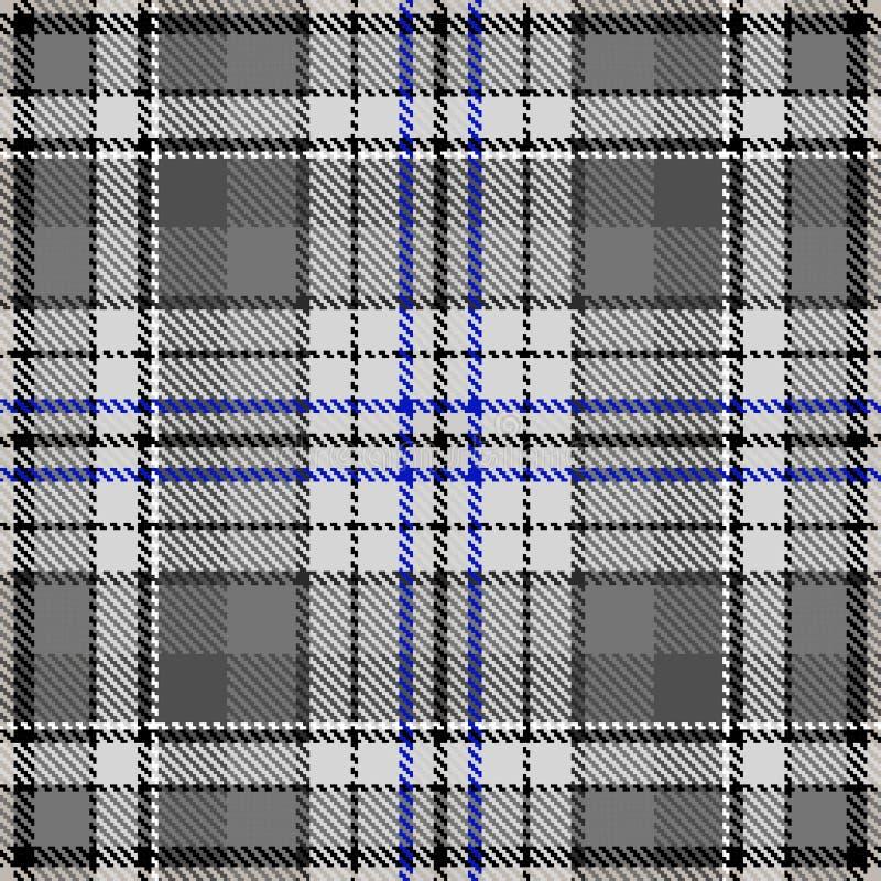 Γκρίζο μπλε ύφασμα σχεδίων υφάσματος σχεδίων ελέγχου διανυσματική απεικόνιση