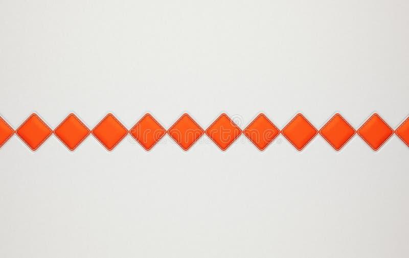 Γκρίζο οριζόντιο ραμμένο υπόβαθρο δέρματος με τα rhombs διανυσματική απεικόνιση