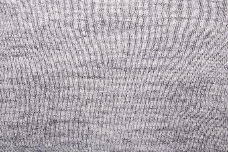 Γκρίζο πλεξίματος μαλλιού σύστασης υποβάθρου πλεγμένο υφάσματος διάστημα αντιγράφων άποψης σύστασης τοπ στοκ φωτογραφία με δικαίωμα ελεύθερης χρήσης