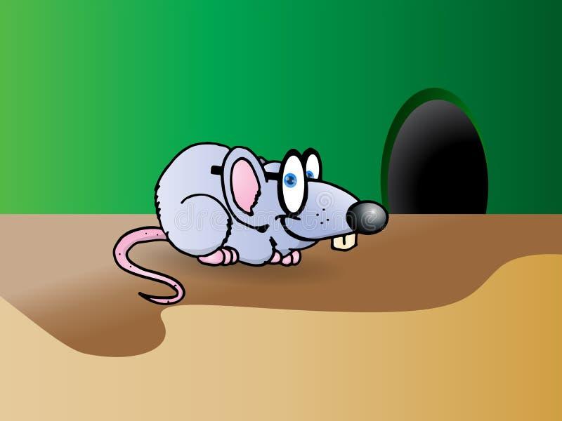 γκρίζο ποντίκι έξυπνο απεικόνιση αποθεμάτων