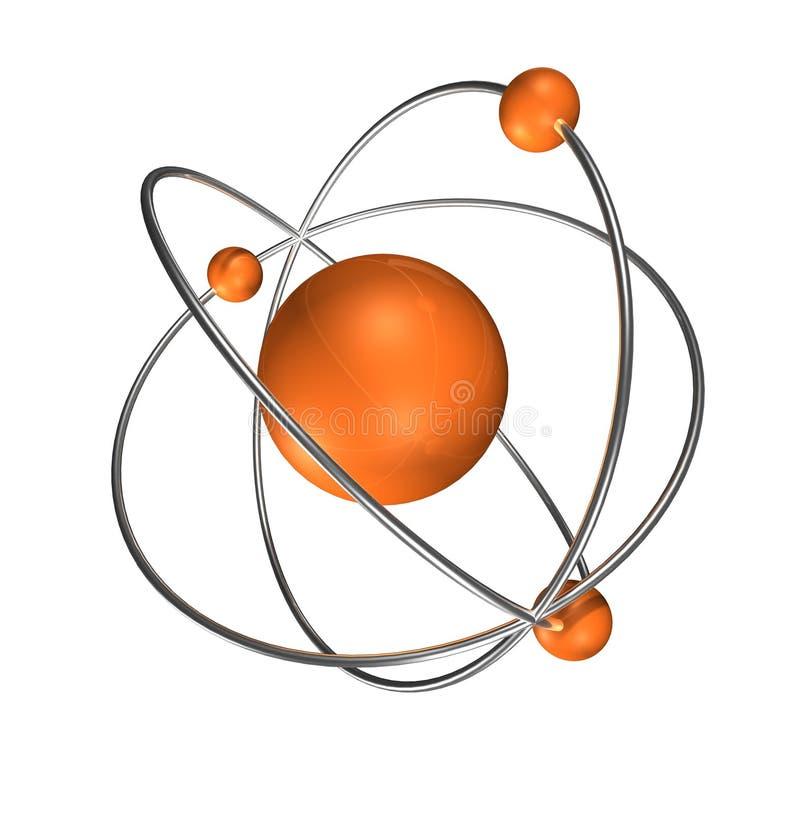γκρίζο πορτοκάλι ανασκόπησης ατόμων διανυσματική απεικόνιση