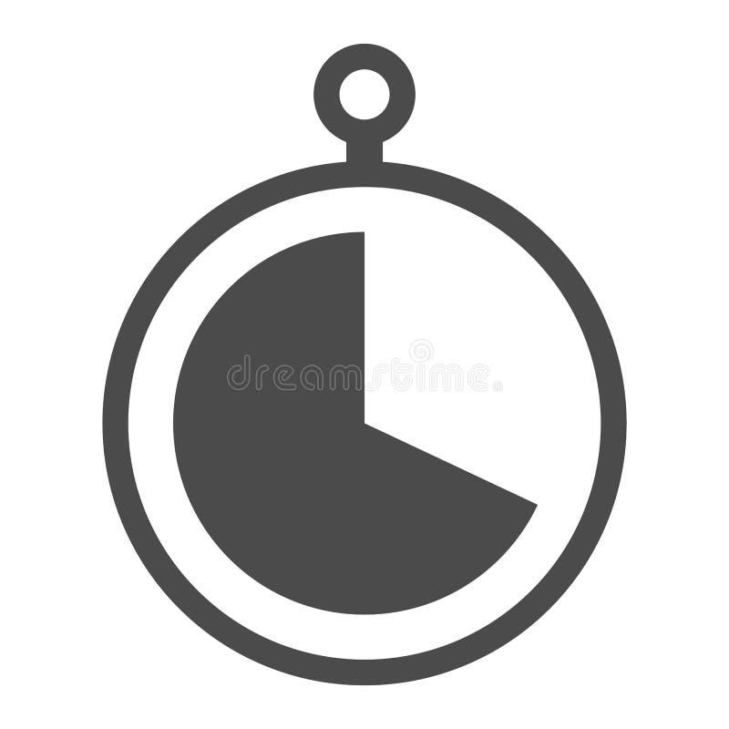 Γκρίζο σημάδι χρονομέτρων με διακόπτη χρώματος Γκρίζο εικονίδιο διανυσματικό eps10 χρονομέτρων με διακόπτη στο άσπρο υπόβαθρο απεικόνιση αποθεμάτων