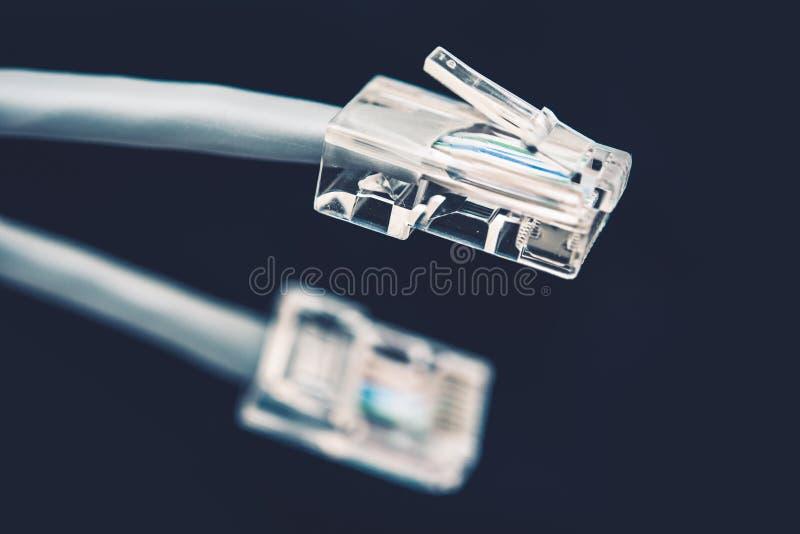 Γκρίζο σκοινί καλωδίων δικτύων στοκ εικόνα με δικαίωμα ελεύθερης χρήσης