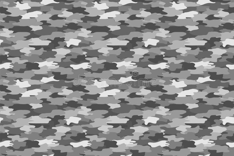 Γκρίζο στρατιωτικό σχέδιο τυπωμένων υλών χρώματος άνευ ραφής Ιματισμός στρατού r διανυσματική απεικόνιση