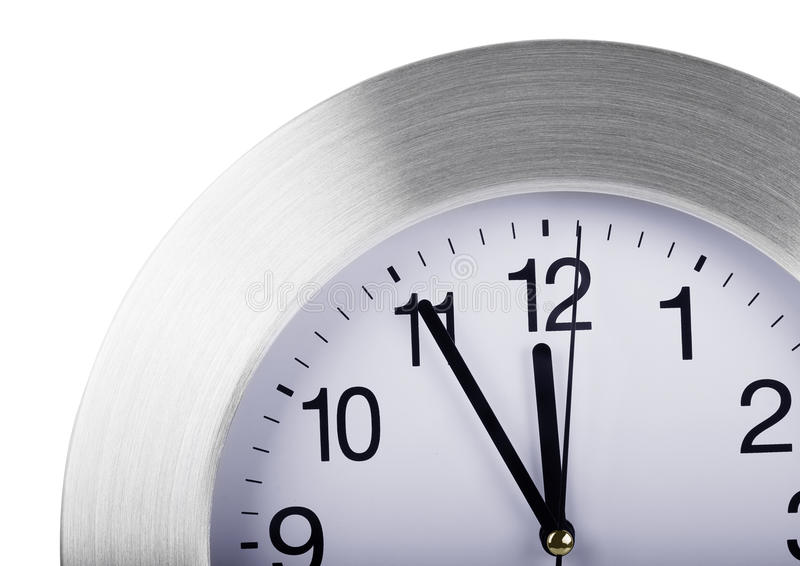 Γκρίζο στρογγυλό ρολόι τοίχων στοκ φωτογραφίες με δικαίωμα ελεύθερης χρήσης
