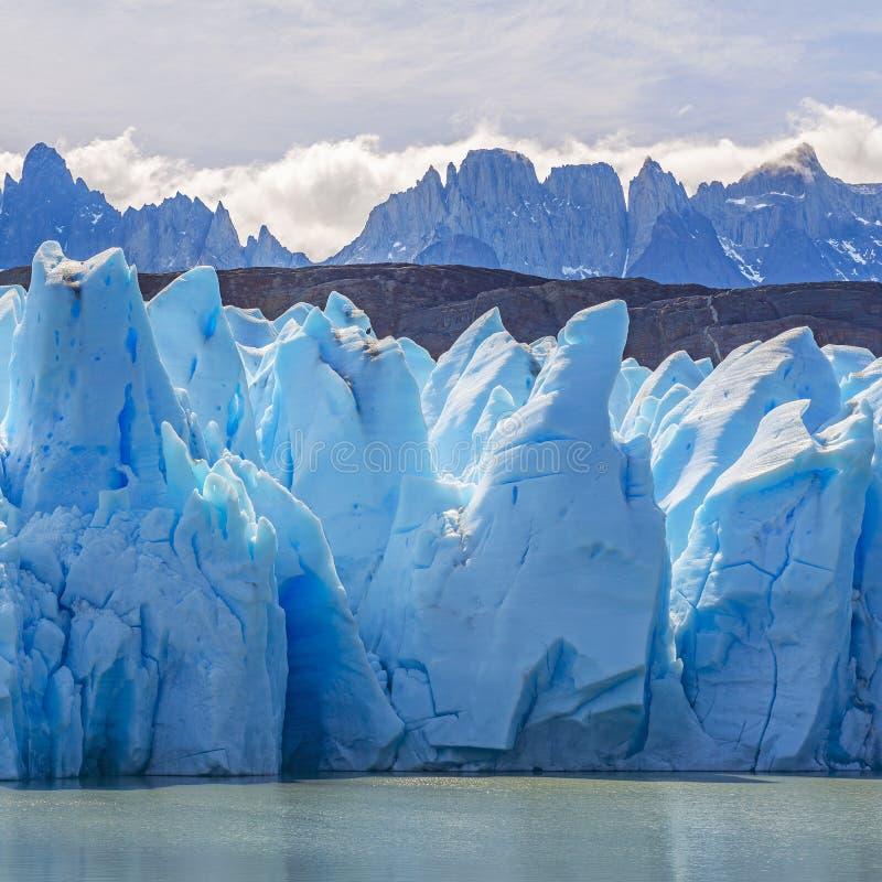 Γκρίζο τετράγωνο παγετώνων, Παταγωνία, Χιλή στοκ εικόνες