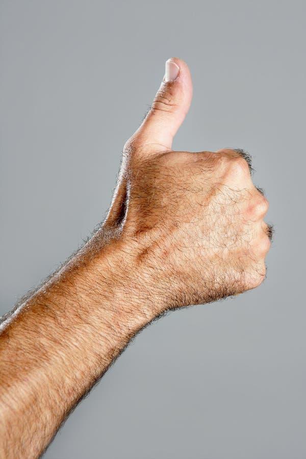 γκρίζο τριχωτό άτομο χεριών στοκ εικόνες με δικαίωμα ελεύθερης χρήσης
