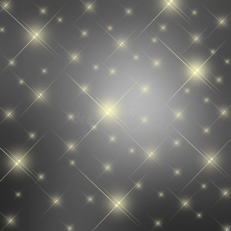 Γκρίζο υπόβαθρο αστεριών σπινθηρίσματος ελεύθερη απεικόνιση δικαιώματος