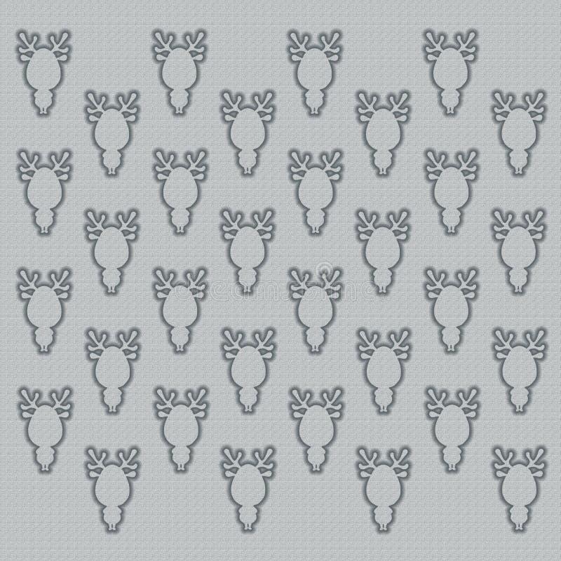 Γκρίζο υπόβαθρο με τις σκιαγραφίες των αστείων deers ελεύθερη απεικόνιση δικαιώματος