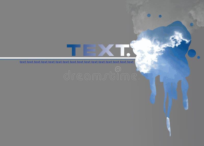 γκρίζο grunge σύννεφων flayer ελεύθερη απεικόνιση δικαιώματος