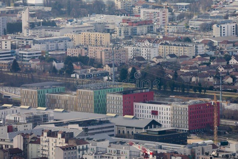 Γκρενόμπλ, Γαλλία, τον Ιανουάριο του 2019: Εναέρια άποψη bouchayer-Vaiallet στοκ φωτογραφία με δικαίωμα ελεύθερης χρήσης