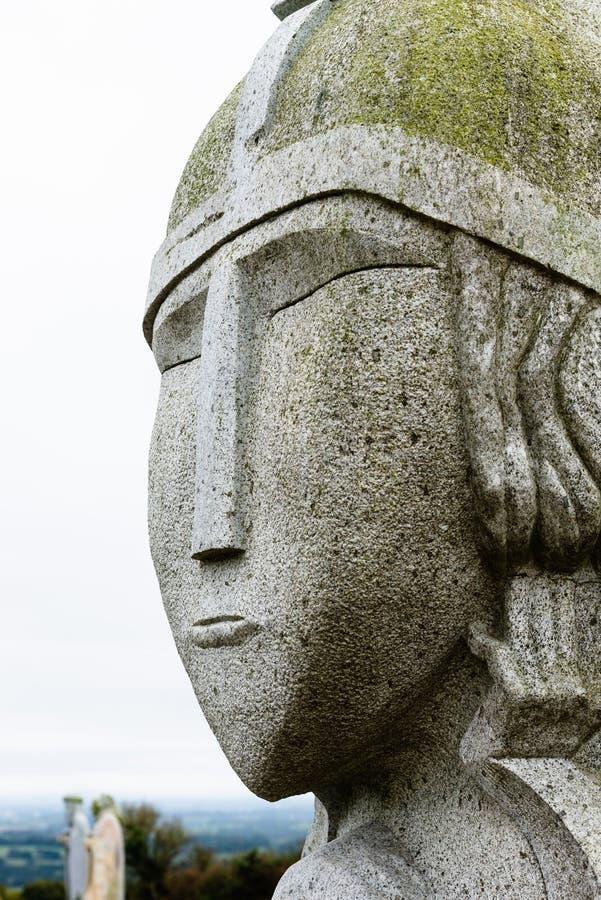 Γκρι άγαλμα του μωρού Σάμσον στοκ φωτογραφία με δικαίωμα ελεύθερης χρήσης