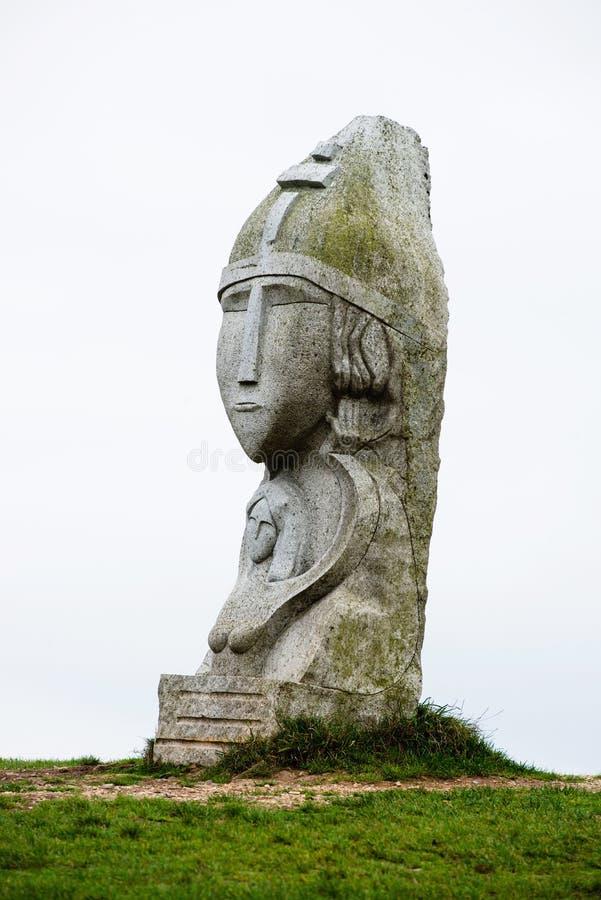 Γκρι άγαλμα του μωρού Σάμσον στοκ εικόνες
