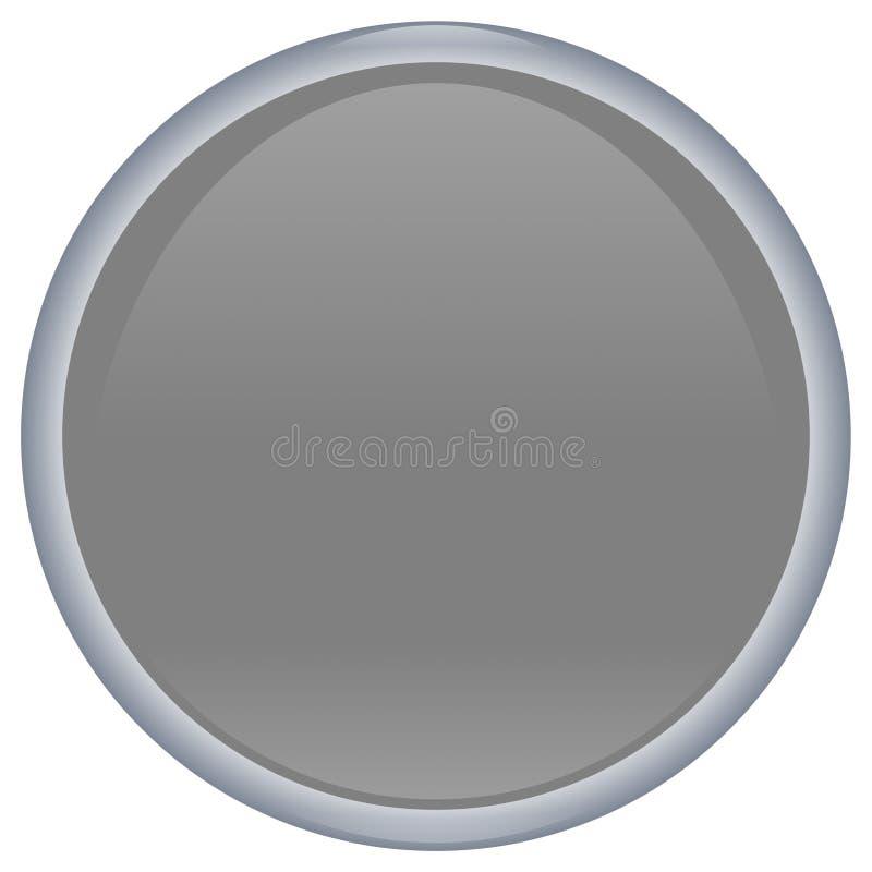 γκρι κουμπιών aqua απεικόνιση αποθεμάτων