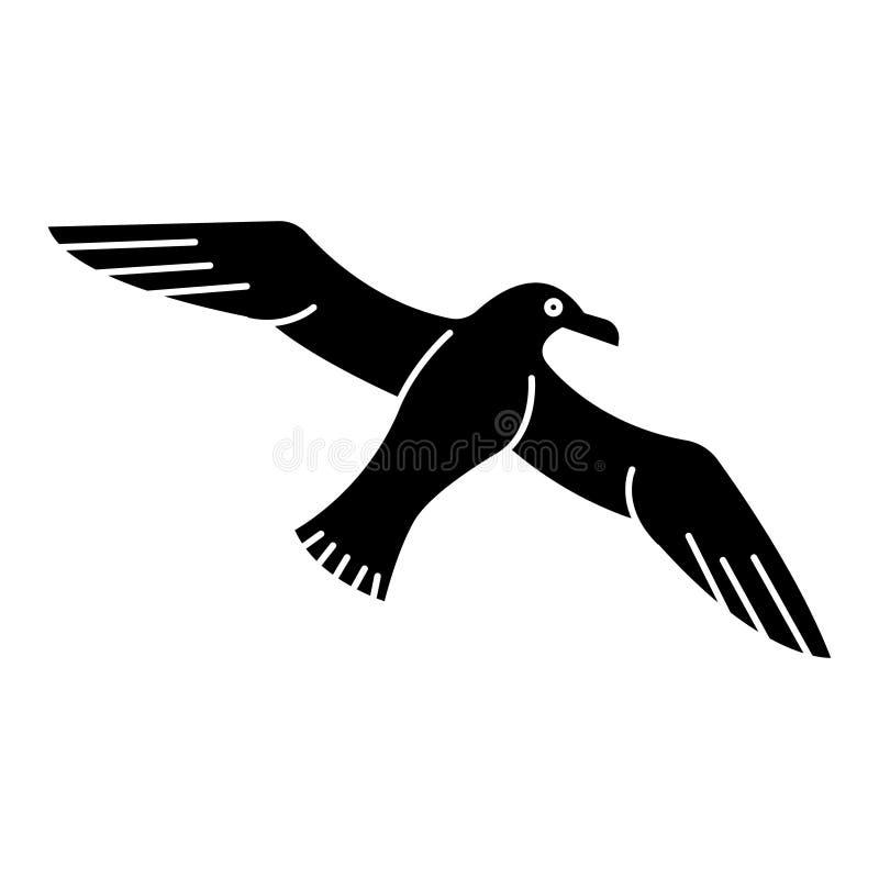 Γλάρος - seagull εικονίδιο, διανυσματική απεικόνιση, μαύρο σημάδι στο απομονωμένο υπόβαθρο ελεύθερη απεικόνιση δικαιώματος
