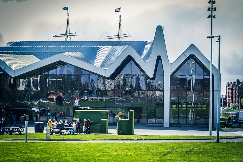 Γλασκώβη, Σκωτία το μουσείο όχθεων ποταμού, Ηνωμένο Βασίλειο στοκ εικόνες
