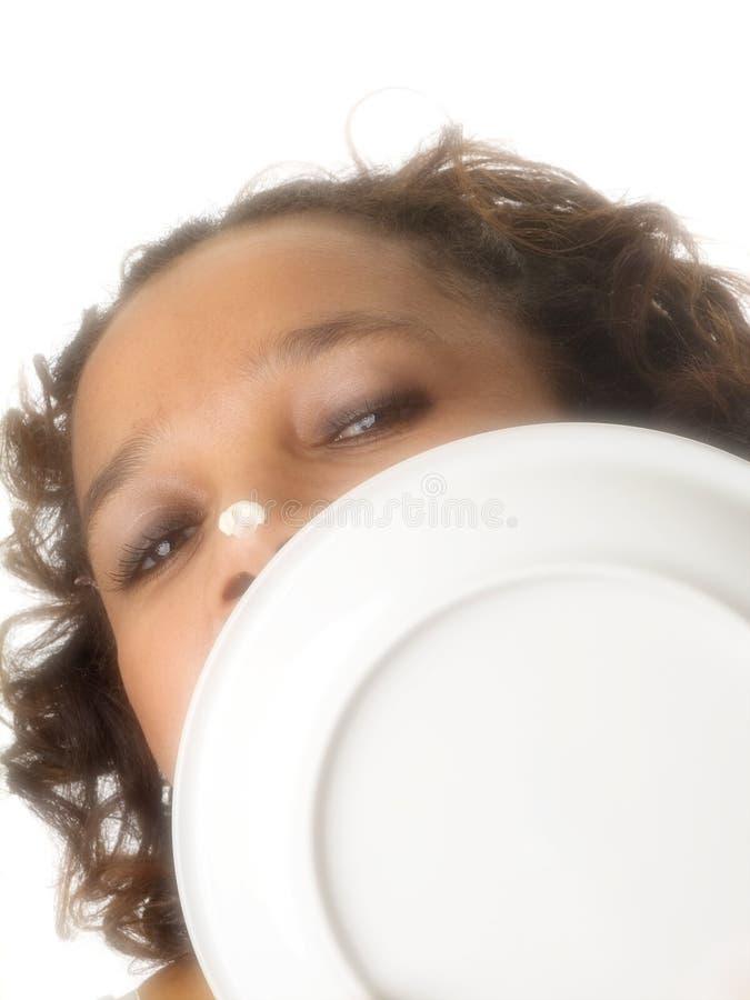 γλείψιμο του πιάτου στοκ φωτογραφίες με δικαίωμα ελεύθερης χρήσης