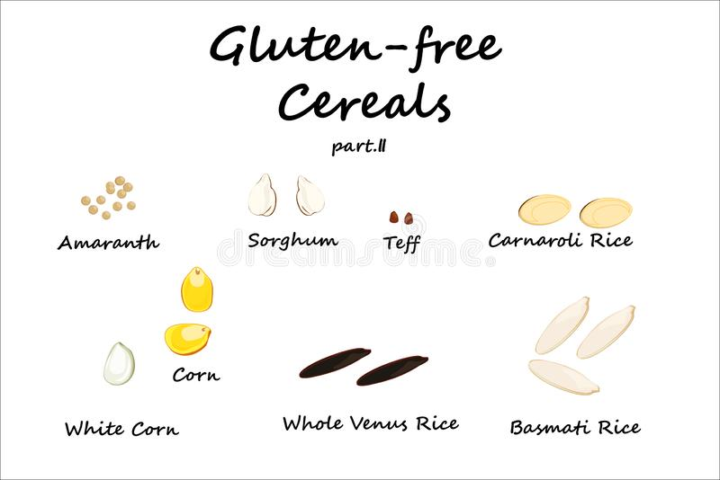 Γλουτένη-ελεύθερα δημητριακά απεικόνιση αποθεμάτων