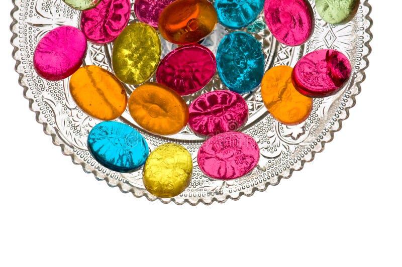 γλυκά πιάτων καραμελών στοκ φωτογραφία με δικαίωμα ελεύθερης χρήσης