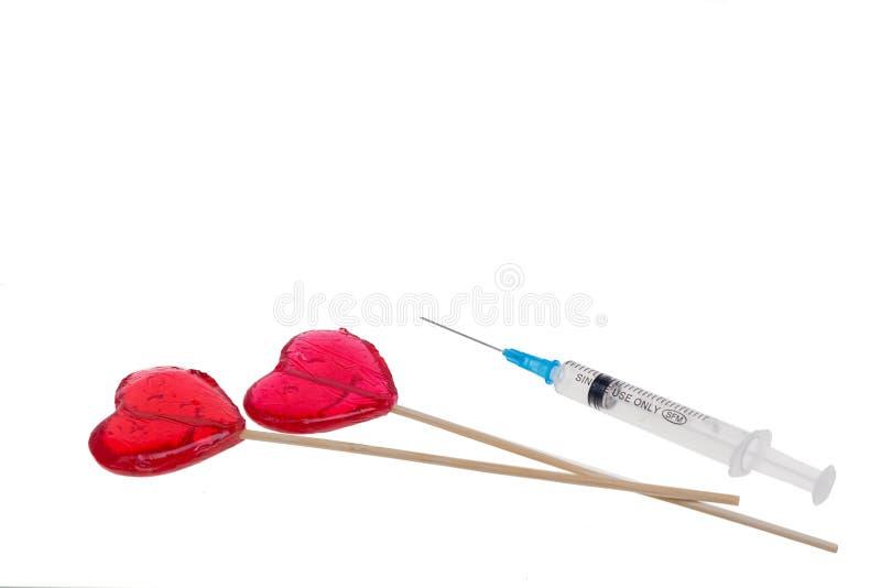 Γλυκές καραμέλα και ινσουλίνη στοκ φωτογραφίες