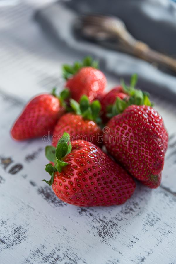 Γλυκές φράουλες στοκ εικόνες
