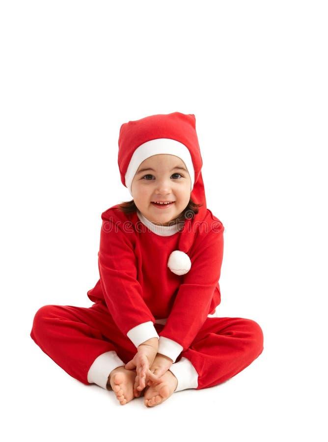 γλυκιά ένδυση santa κοριτσιών στοκ φωτογραφίες