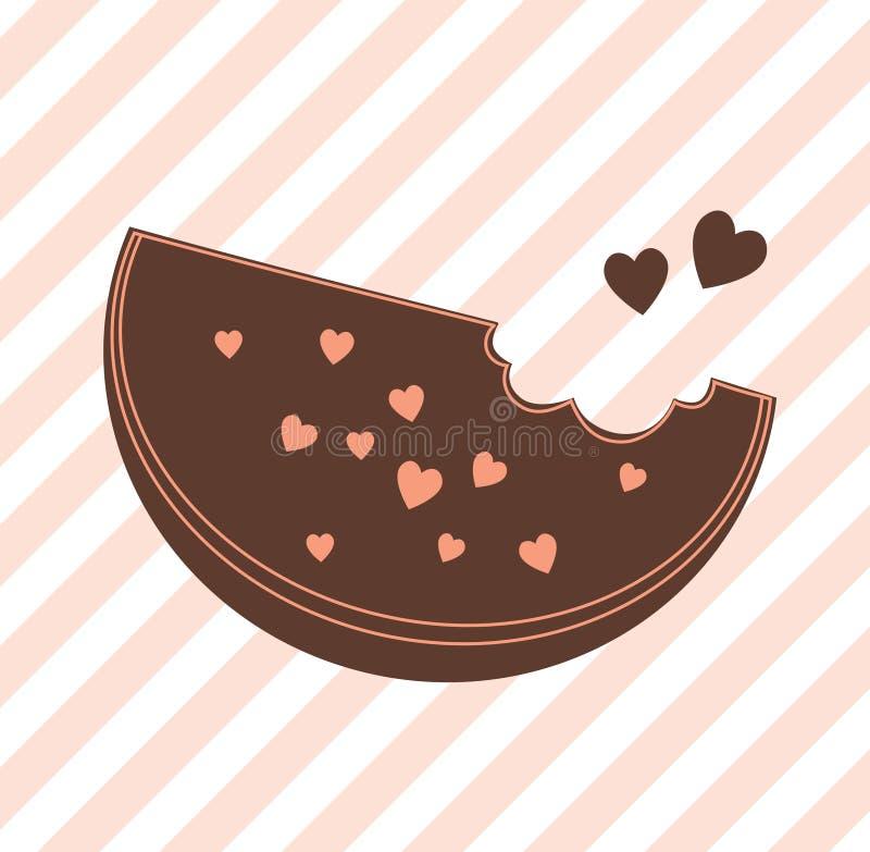Γλυκιά απεικόνιση, και μια φέτα του καρπουζιού σοκολάτας στοκ φωτογραφία με δικαίωμα ελεύθερης χρήσης