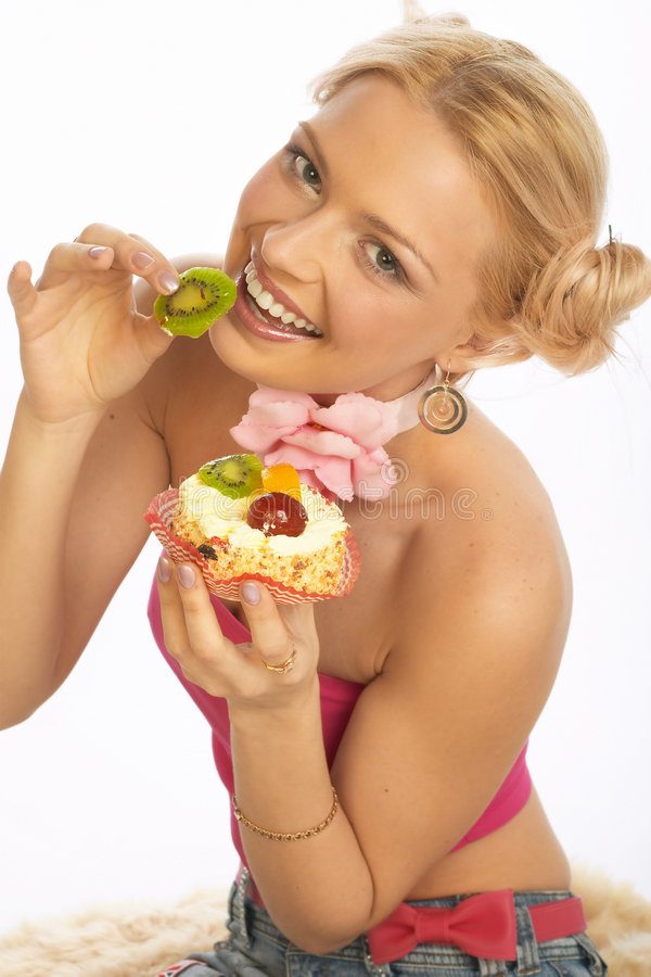 Download γλυκιά γυναίκα δοντιών στοκ εικόνες. εικόνα από over, θηλυκό - 378558