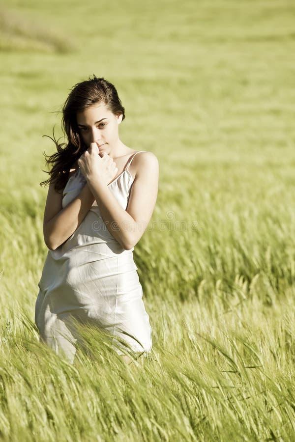 γλυκιά γυναίκα πεδίων στοκ εικόνες