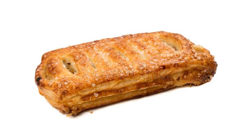 Γλυκιά πλεγμένη ζύμη ριπών που απομονώνεται ή feuilletee πατέ στοκ εικόνες