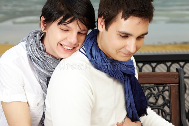 Γλυκός αγκαλιάστε στοκ εικόνες