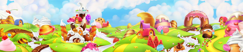 Γλυκό έδαφος Τοπίο πανοράματος, διάνυσμα ελεύθερη απεικόνιση δικαιώματος