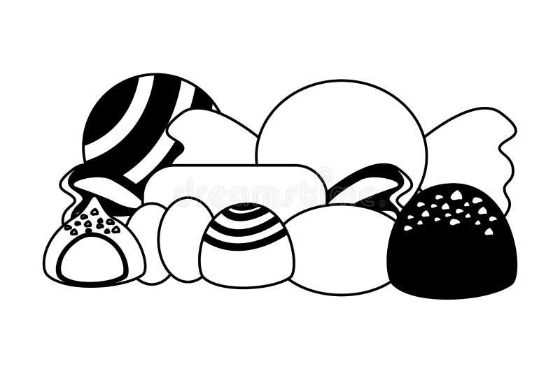 Γλυκό απομονωμένο καραμέλες εικονίδιο στοκ εικόνα
