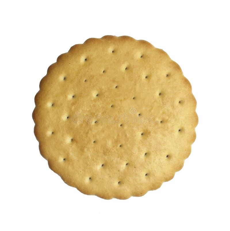 Γλυκό βουτύρου μπισκότο που απομονώνεται στο άσπρο υπόβαθρο Τοπ όψη στοκ φωτογραφία με δικαίωμα ελεύθερης χρήσης