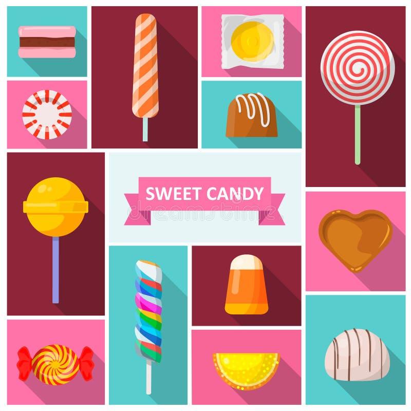 Γλυκό εικονίδιο καραμελών απεικόνιση αποθεμάτων