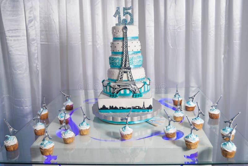 γλυκό κέικ 15 años στοκ φωτογραφία με δικαίωμα ελεύθερης χρήσης