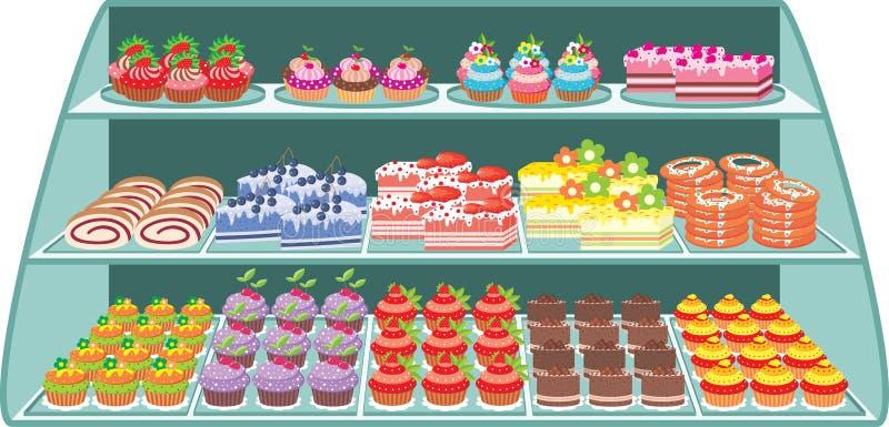 γλυκό καταστημάτων απεικόνιση αποθεμάτων