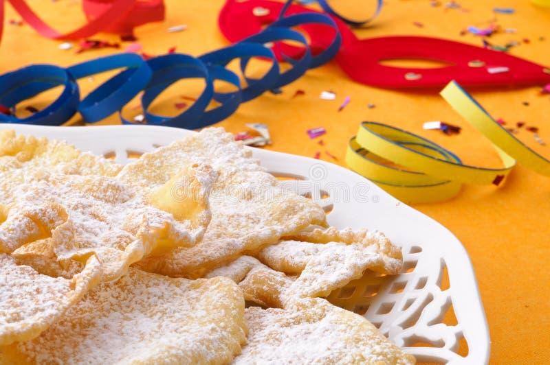 γλυκό πιάτων καρναβαλιού frappe στοκ εικόνες