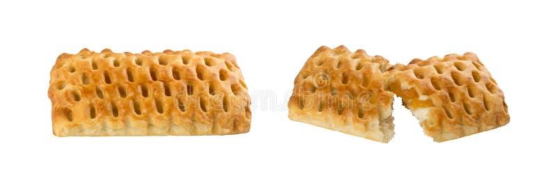 Γλυκό πλεγμένο ζύμη ριπών ή πατέ Feuilletee που απομονώνεται στοκ φωτογραφία με δικαίωμα ελεύθερης χρήσης