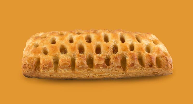 Γλυκό πλεγμένο ζύμη ριπών ή πατέ Feuilletee που απομονώνεται στοκ εικόνες