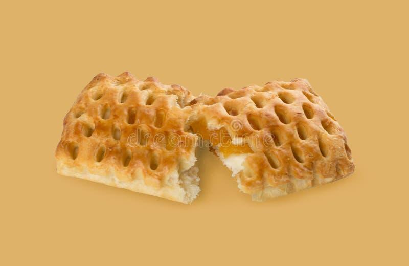 Γλυκό πλεγμένο ζύμη ριπών ή πατέ Feuilletee στοκ εικόνα