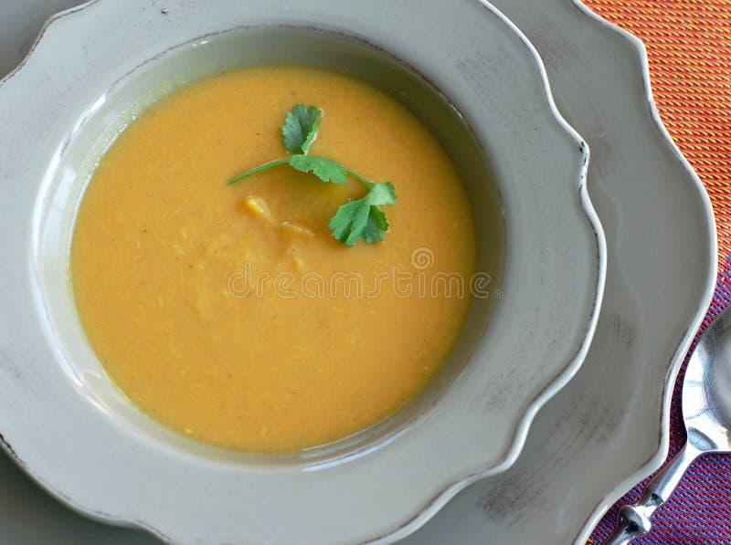 γλυκό σούπας πατατών στοκ εικόνα με δικαίωμα ελεύθερης χρήσης