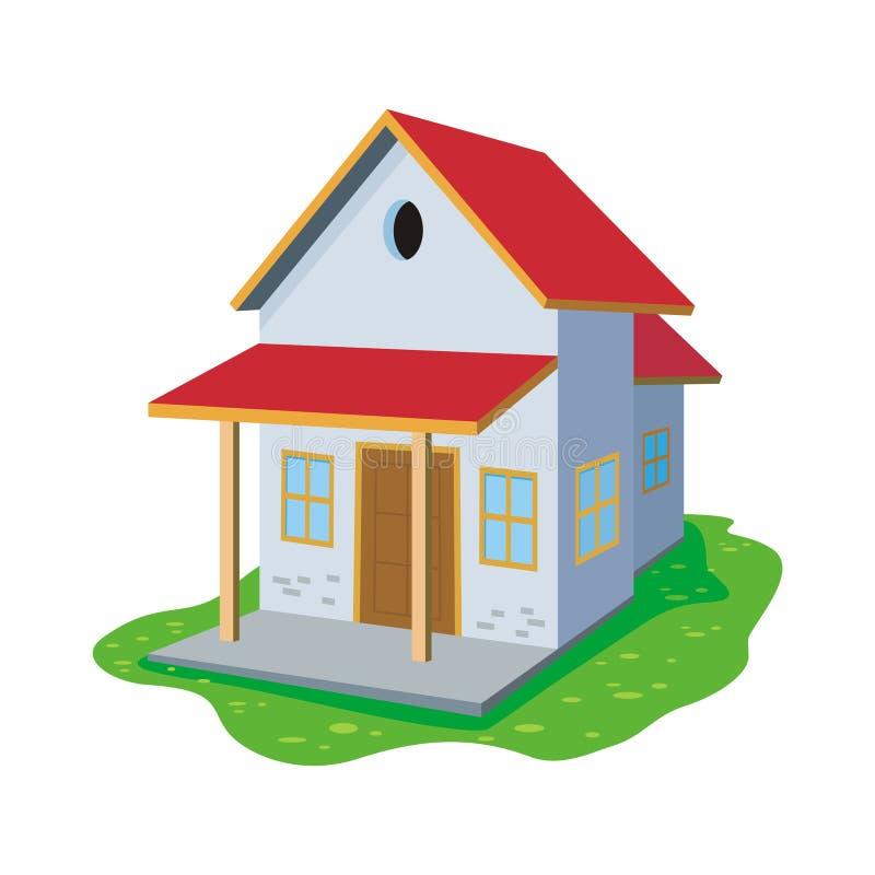 Γλυκό σπίτι κινούμενων σχεδίων, χαριτωμένο και νέο σχέδιο ελεύθερη απεικόνιση δικαιώματος