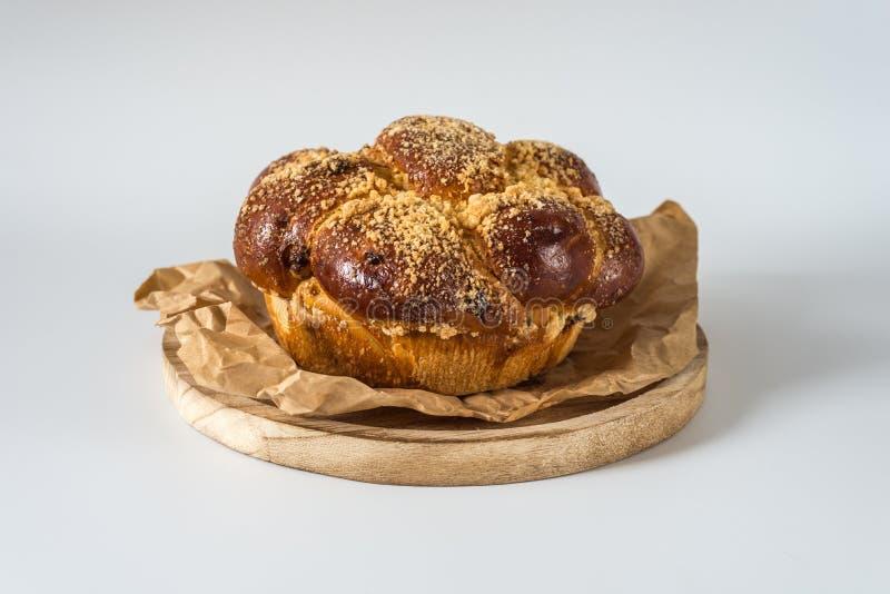 Γλυκό στρογγυλό ψωμί challah, στοκ εικόνες με δικαίωμα ελεύθερης χρήσης