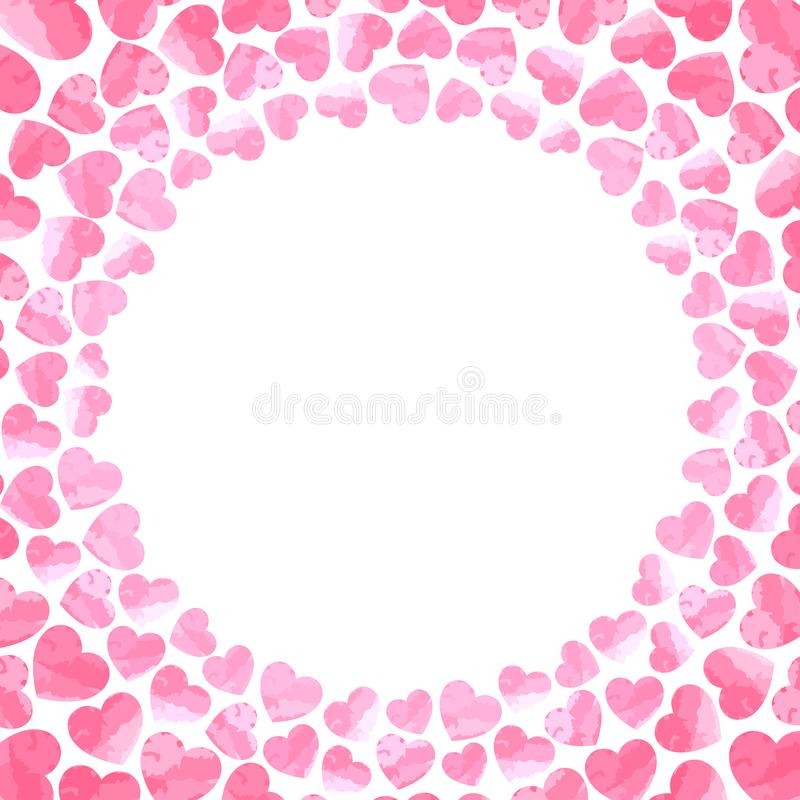 Υπόβαθρο καρδιών για την κάρτα ημέρας βαλεντίνων διανυσματική απεικόνιση