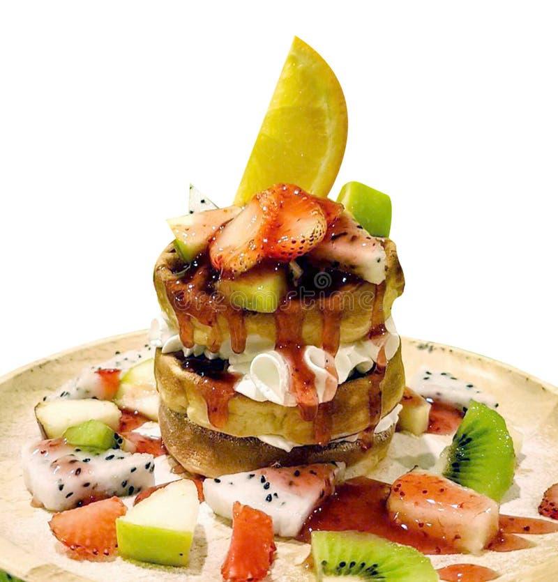 Γλυκό φρούτων και ψωμιού φωτογραφία Τρόφιμα menu απεικόνιση αποθεμάτων