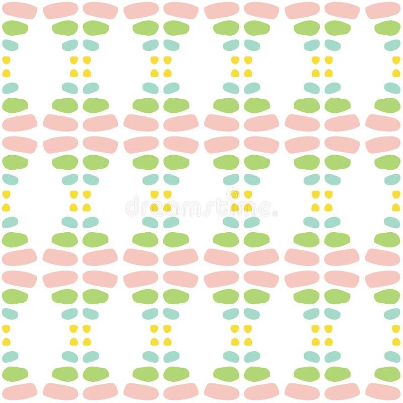 Γλυκό χρωματισμένο άνοιξη αφηρημένο διανυσματικό άνευ ραφής σχέδιο Σ διανυσματική απεικόνιση