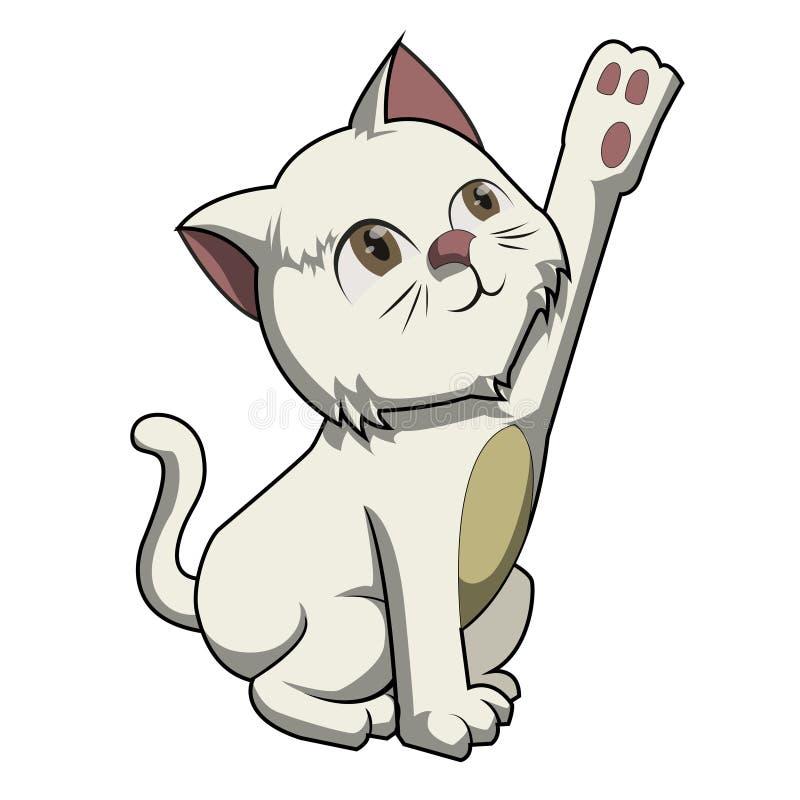 Γλυκό meow γατών με βοηθά απεικόνιση αποθεμάτων